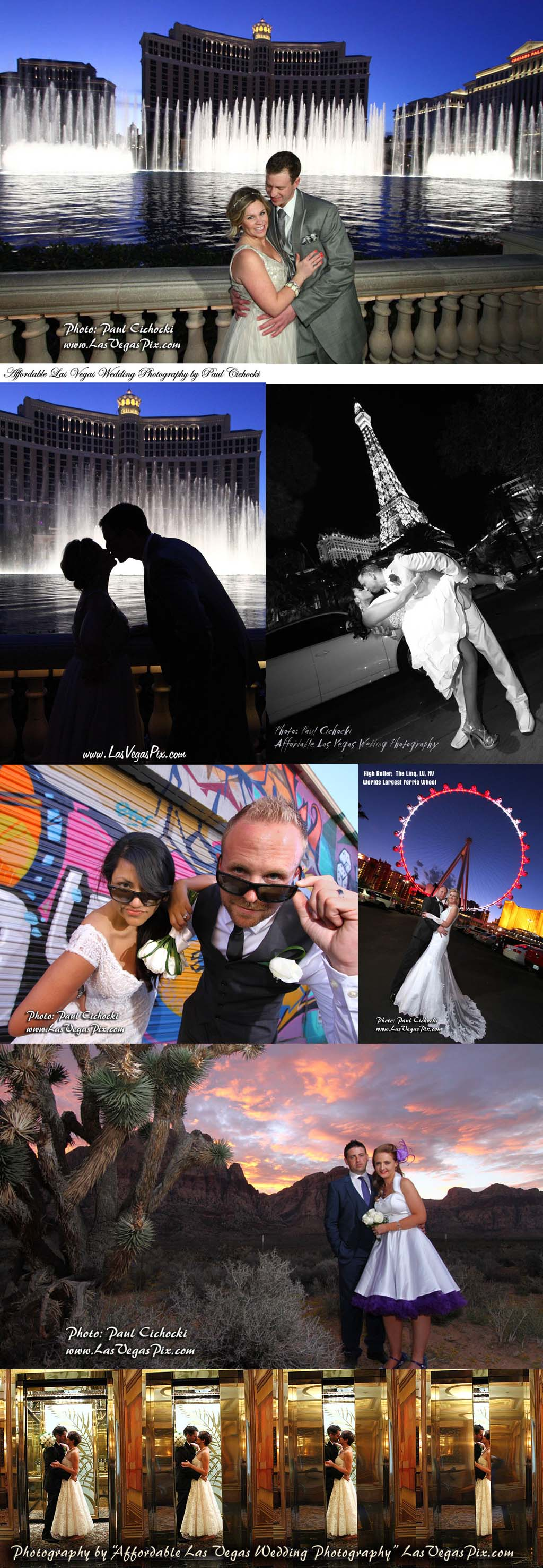 Strip Photography Tour In Front Of Special Memories Wedding Chapel Las Vegas Photographer